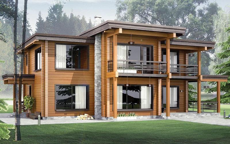 Деревянные дома из бревна и бруса в Краснодаре
