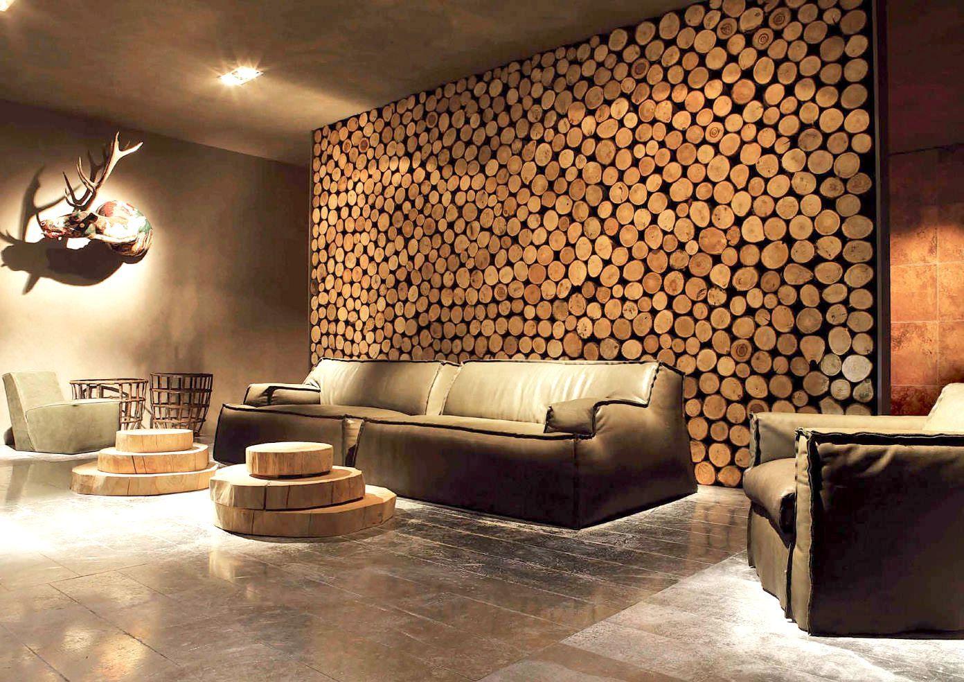 Декор стен деревом своими руками фото