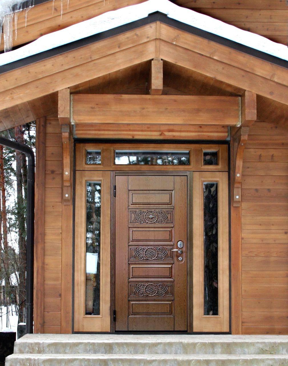 входная дверь в дом котедж