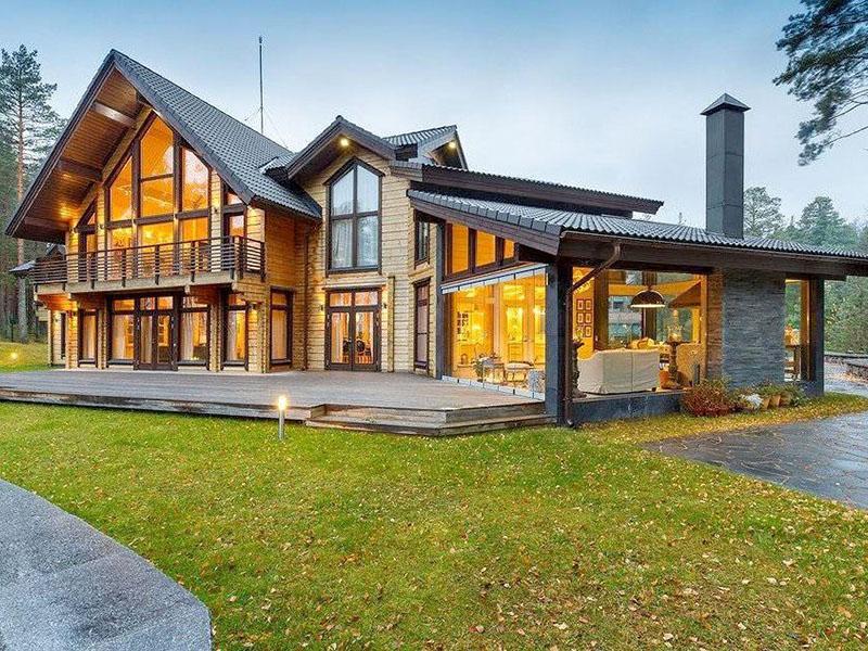 дома из клееного бруса красивые проекты