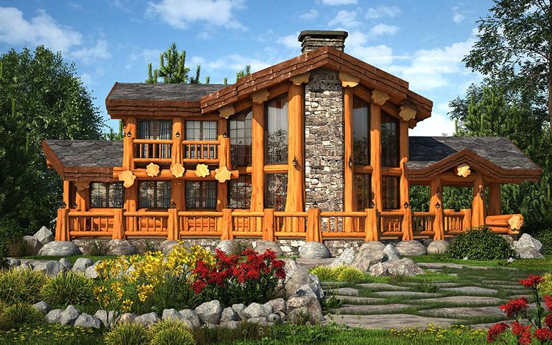 Каталог проектов домов из бревна и бруса